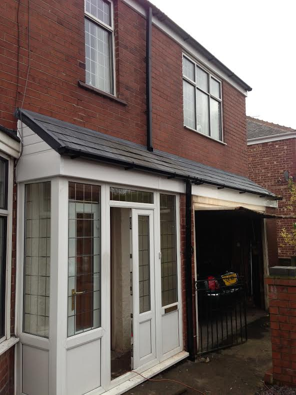 how to build a pitched roof canopy